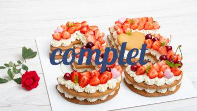 Atelier Number Cake aux fraises